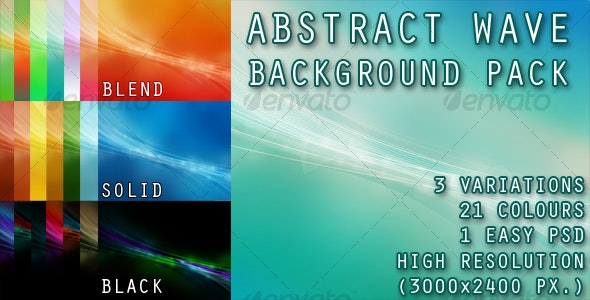 Wave Background Pack - Backgrounds Graphics