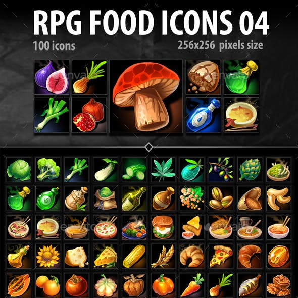 RPG Food Icons 04