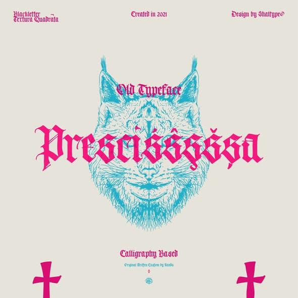 Prescissa - Blackletter Textura Gothic Font