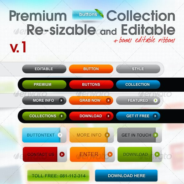 Premium Buttons Collection v.1