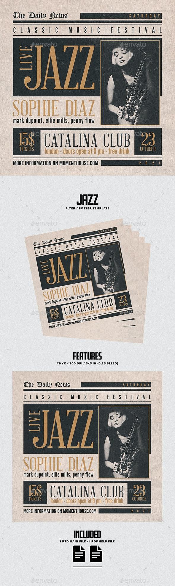 Jazz Flyer/Poster - Concerts Events