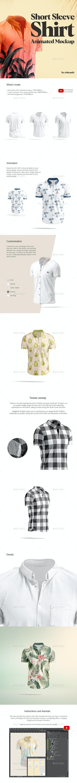 Short Sleeve Shirt Animated Mockup - Miscellaneous Apparel