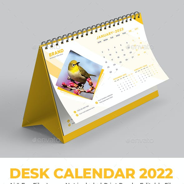 2022 Desk Calendar