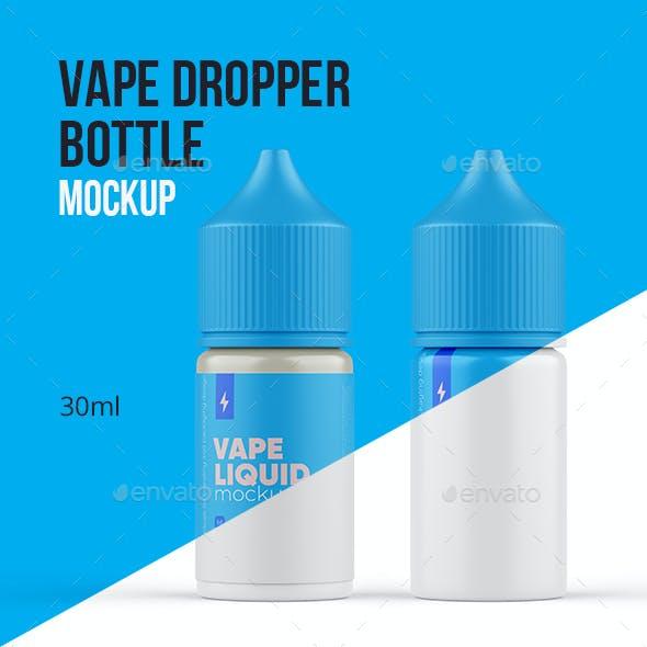 Vape Dropper Bottle Mockup 30ml