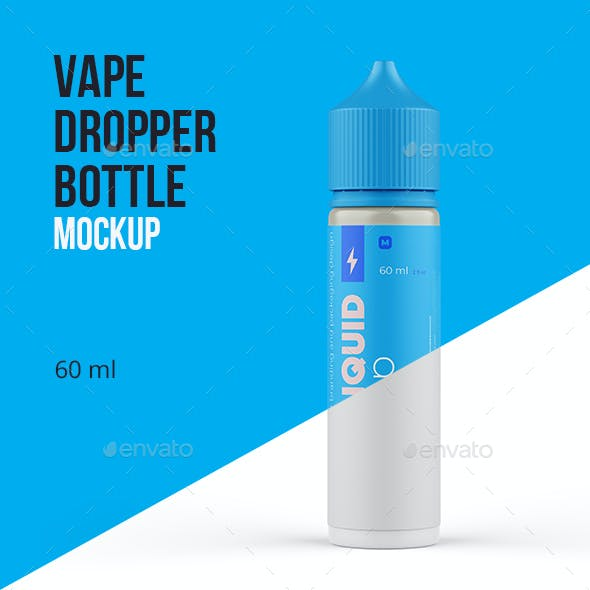 Vape Dropper Bottle Mockup 60ml