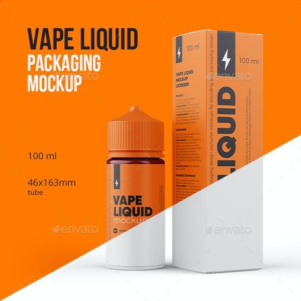 Vape Liquid Packaging Mockup 100ml