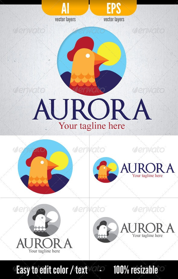 Aurora - Logo template - Animals Logo Templates