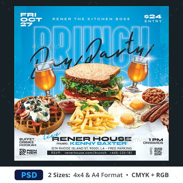 Brunch Party Flyer Template