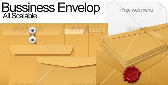 Bussiness Envelope - Miscellaneous Web Elements