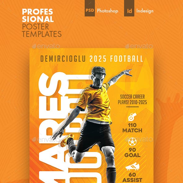 Soccer Career Poster Templates