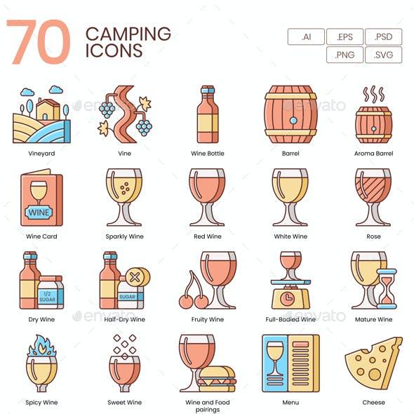 85 Winery Icons | Honey Series