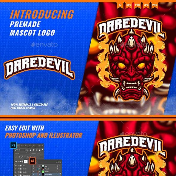Daredevil Head - Mascot Esport Logo Template