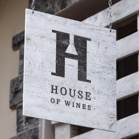 Letter H - Wine Bottle