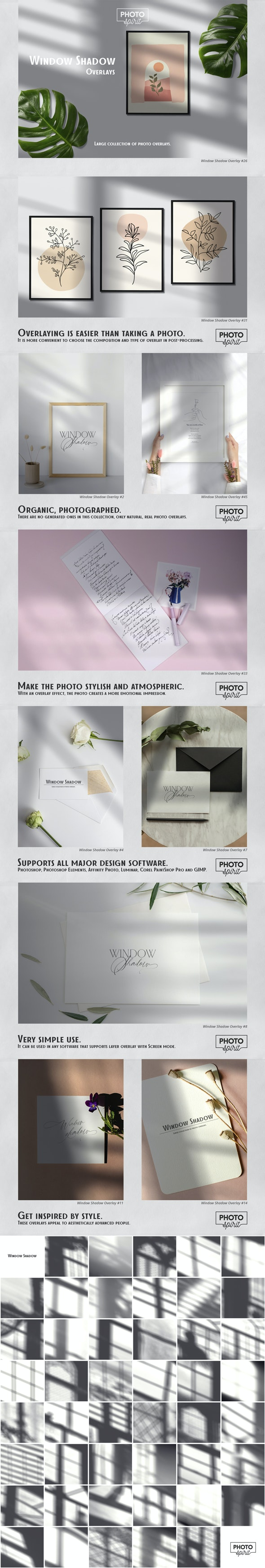 Window Shadow Overlays - Photoshop Add-ons