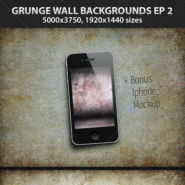 5 Grunge Wall Backgrounds Ep.2