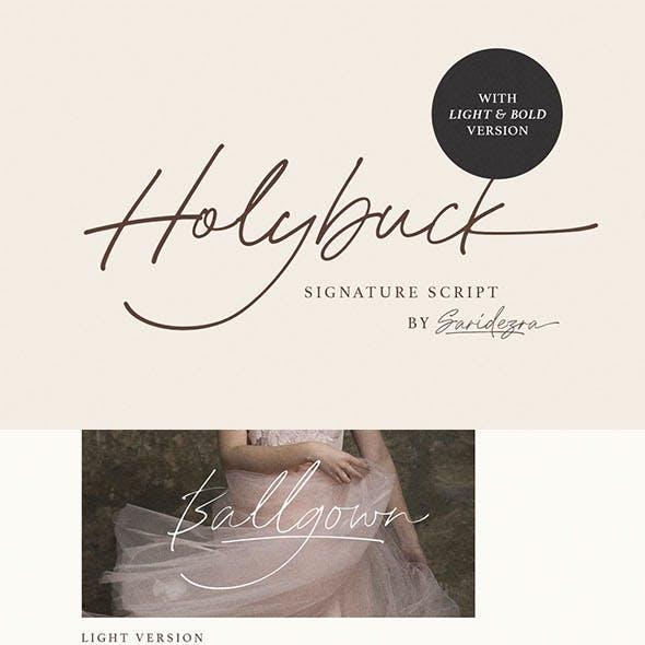 Holybuck - Signature Font Family