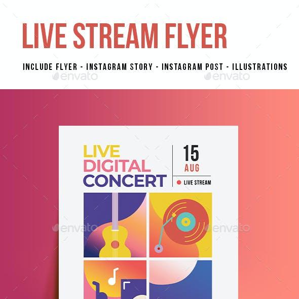 Live Digital Music Flyer
