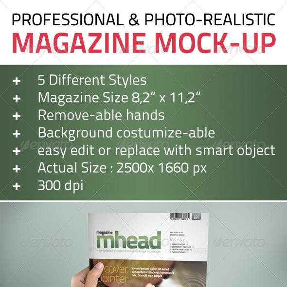 Professional & Photo-Realistic Magazine Mock Ups