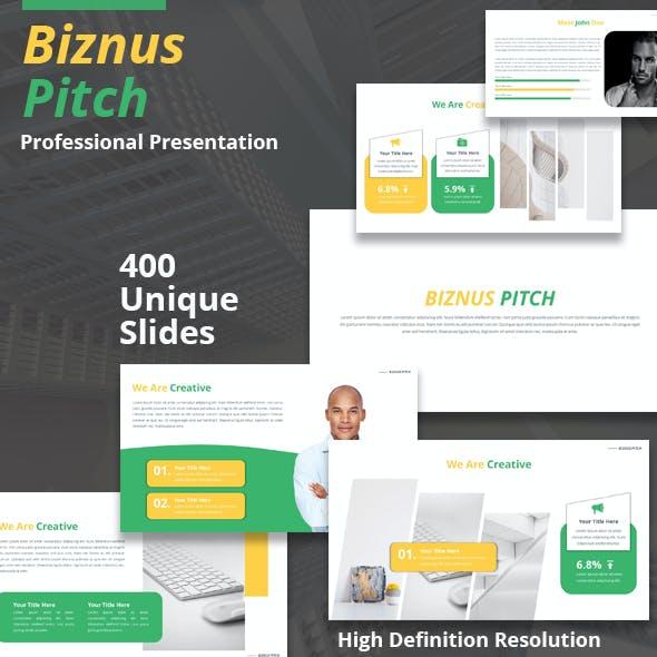 Biznus Pitch Deck Powerpoint Template
