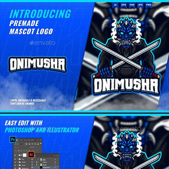 Oni Samurai - Mascot Esport Logo Template