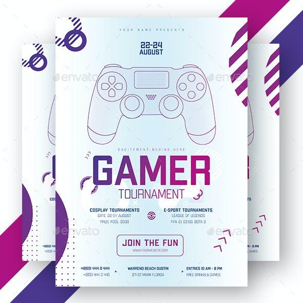 Gamer Tournament Flyer & Banner