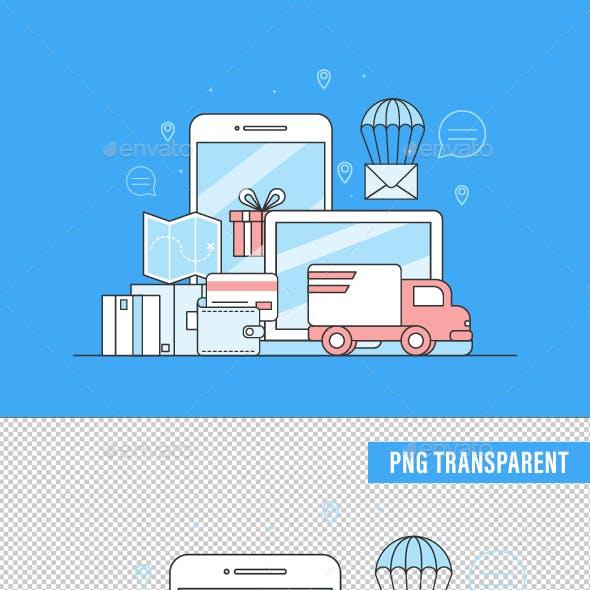 Video Digital Marketing Concept