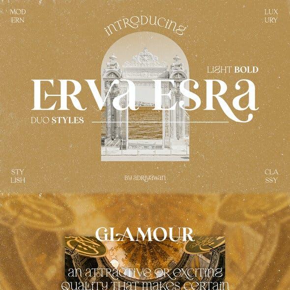 Erva Esra - Modern Quirky Serif Font