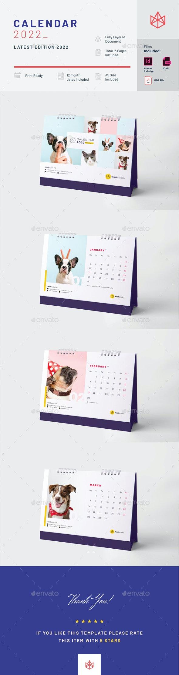 Calendar 2022 - Calendars Stationery