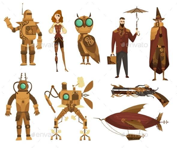 Steampunk Technology Collection - Miscellaneous Vectors