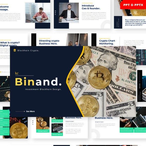 Binand - Blockchain Crypto Powerpoint Template