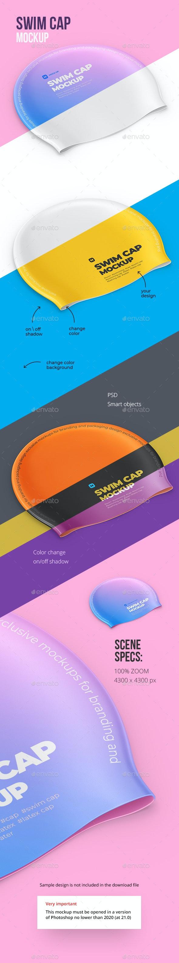 Swim Cap Mockup - Miscellaneous Apparel