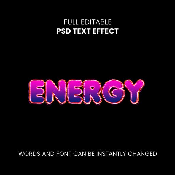 Energy Text Effect