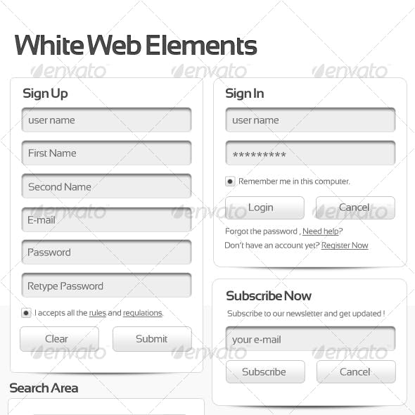 White Web Elements v2