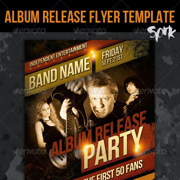 Indie Album Release Party / Concert Flyer Template