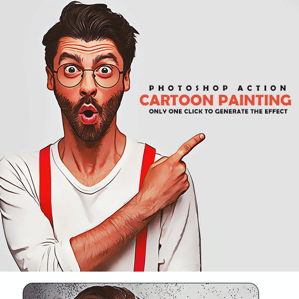Cartoon Painting Action