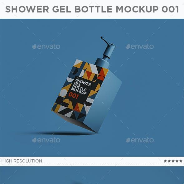 Shower Gel Bottle Mockup 001