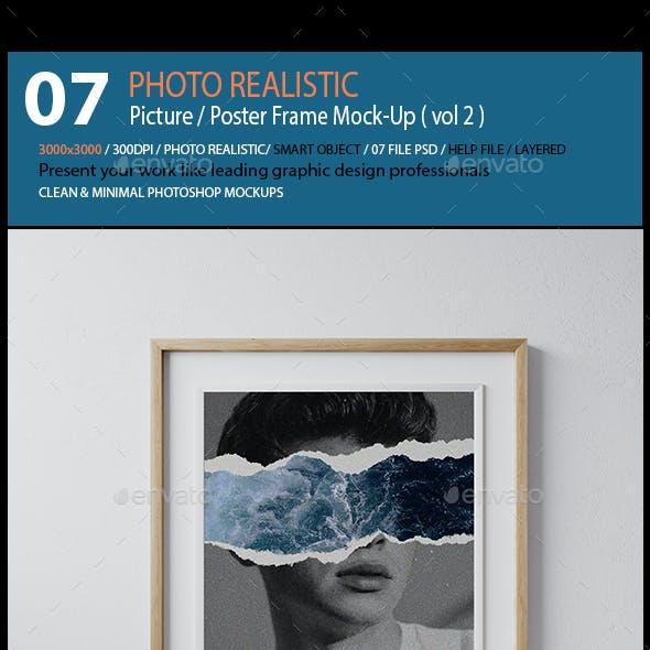 Picture / Poster Frame Mock-Up ( vol 2 )