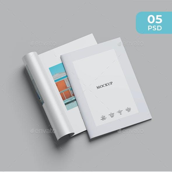 Clean A4 Brochure Mockup