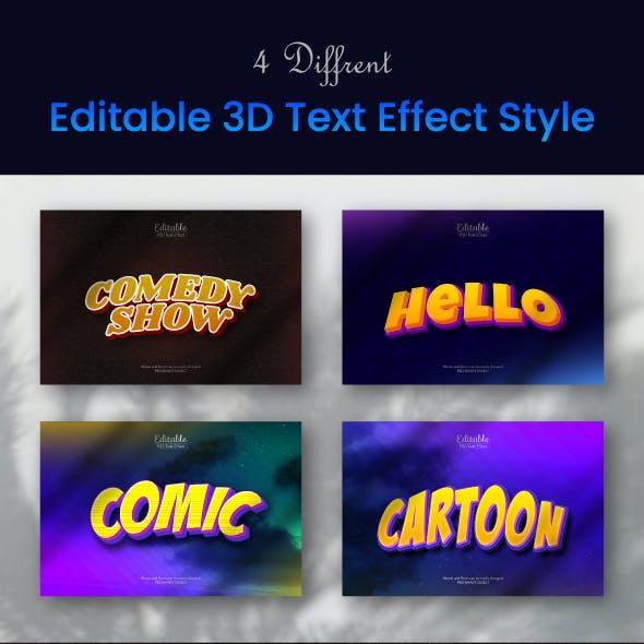 Editable 3D Text Effect Style