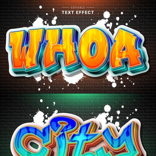 3D Modern Graffiti Text Effect for Illustrator
