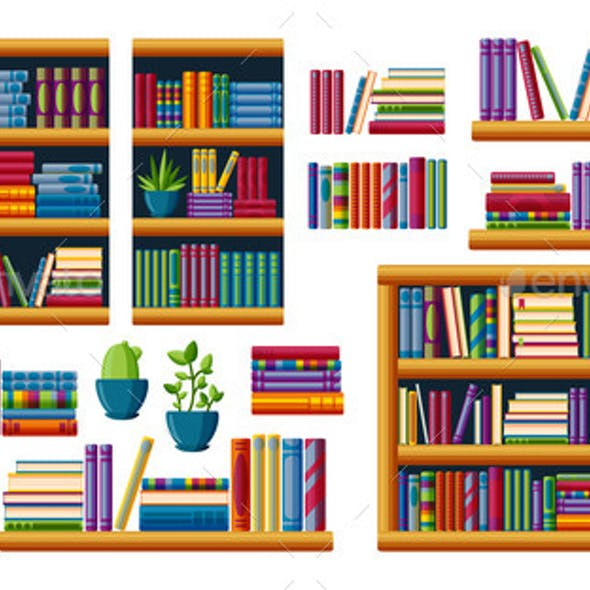 Bookshelves with Bestsellers to Read
