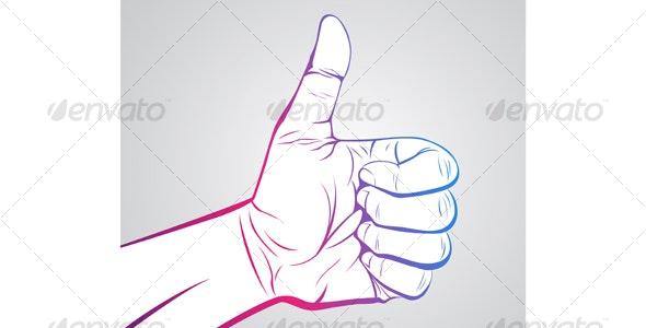 Thumbs Up - Decorative Symbols Decorative
