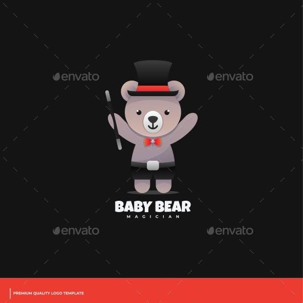 Baby Bear Gradient Logo Template