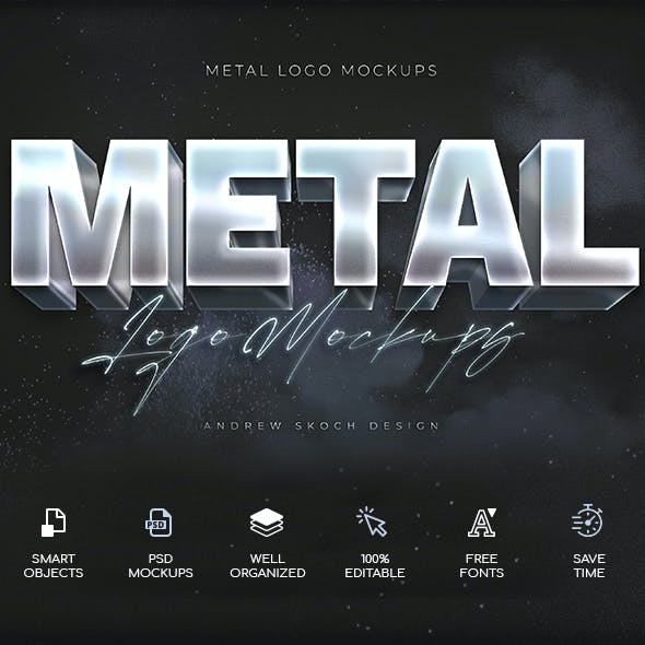 Shining Metal Text Effects