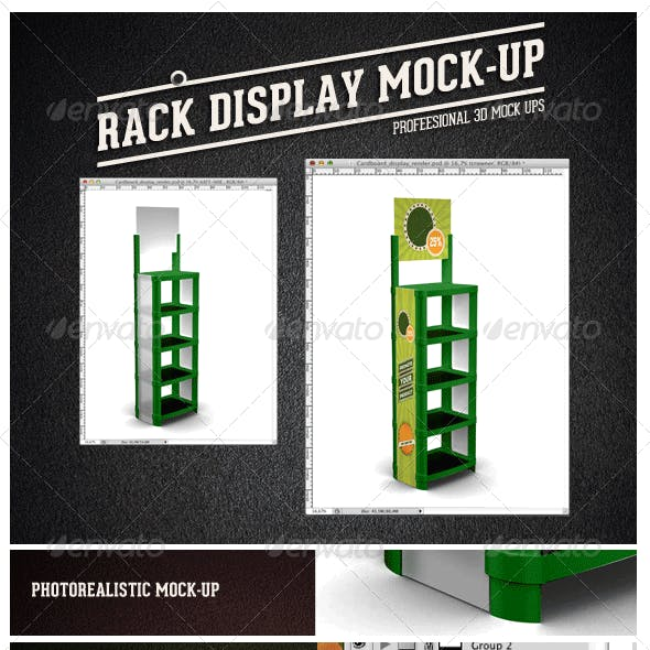 Plastic Display Rack
