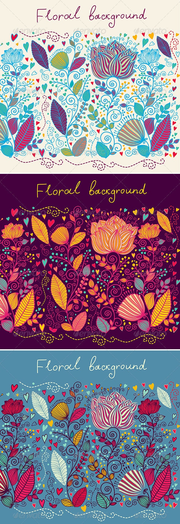 Floral vector background - Decorative Vectors