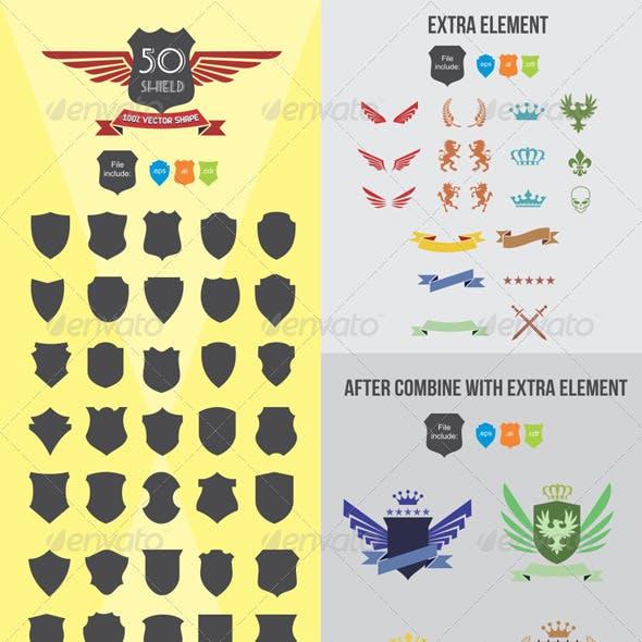 50 Shield Elements