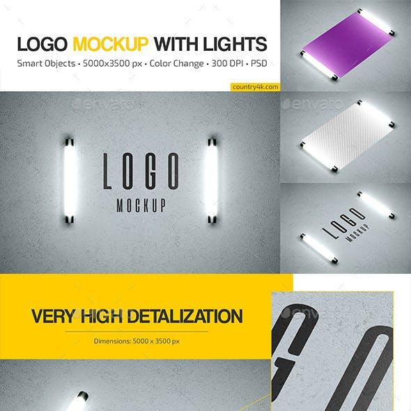 Logo Mockup with Lights