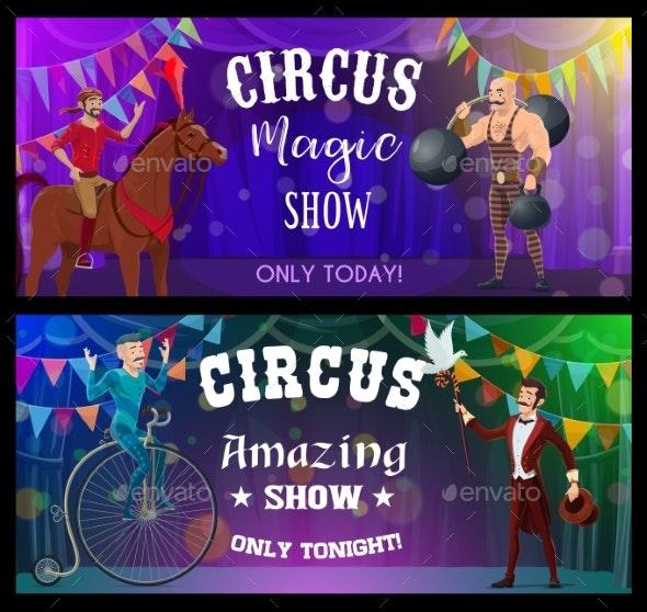 Shapito Circus Juggler Magician and Stilt Walker - People Characters