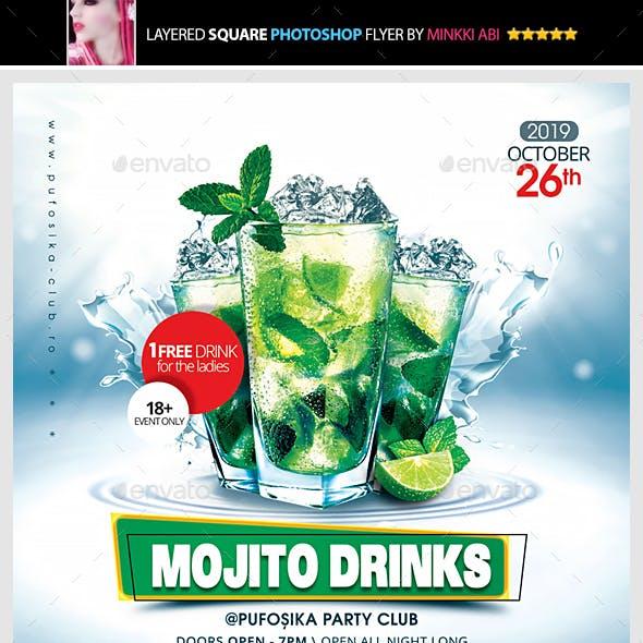 Mojito Drinks Flyer